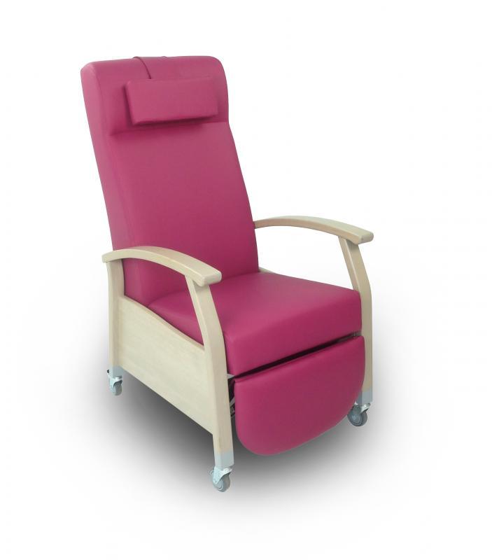 fauteuil relax porto vinyle avec roulettes et poign e fauteuil pour la chambre gohy s a. Black Bedroom Furniture Sets. Home Design Ideas