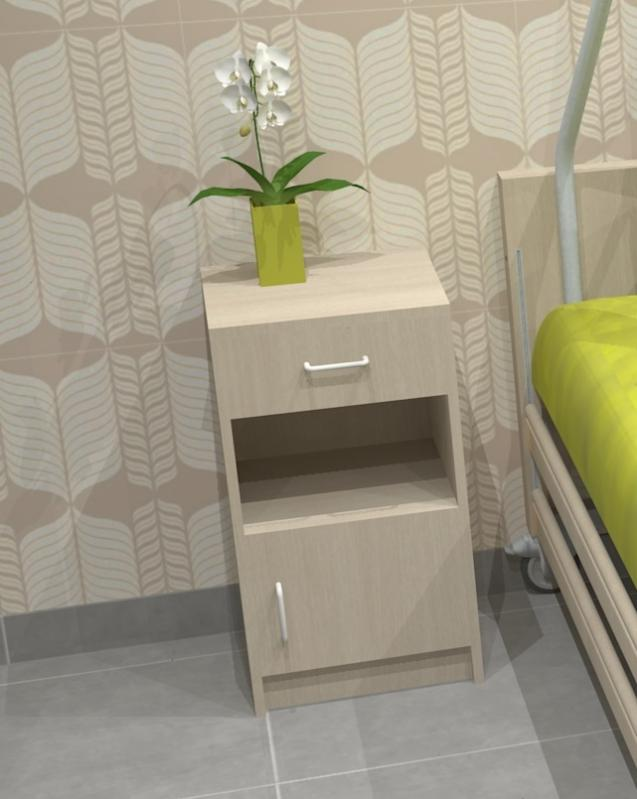 table de nuit panneaux ch ne gris 1 tiroir 1 niche 1 porte tables de nuit pour la. Black Bedroom Furniture Sets. Home Design Ideas