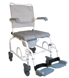 chaise perc e de douche avec roulettes chaises de douche pour la salle de bain et le wc. Black Bedroom Furniture Sets. Home Design Ideas